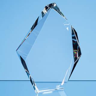 18cm Optical Crystal Facetted Ice Peak Award