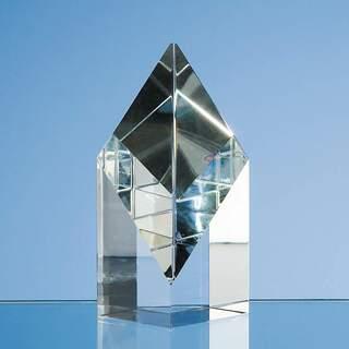 10cm Optical Crystal Sloping Diamond