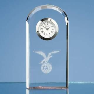 10cm Optical Crystal Bevelled Arch Clock