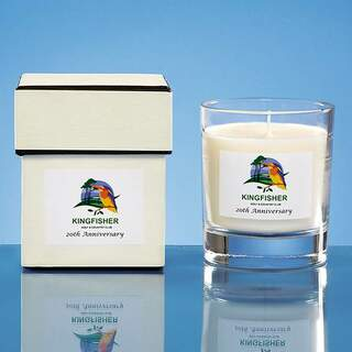 9.5cm Personalised Scented Home Candle Vanilla